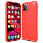 Flexi Slim Carbon Fibre Case for Apple iPhone 11 Pro - Brushed Red